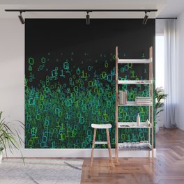 Binary Cloud Wall Mural