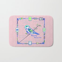 Lovely Sparrow - Mahjong Bath Mat