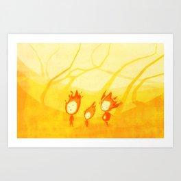 Flame Walk Art Print