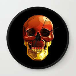 Golden Jaw Wall Clock