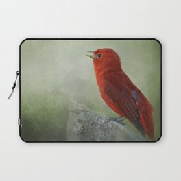 Song of the Summer Tanager 3 - Birds Laptop Sleeve