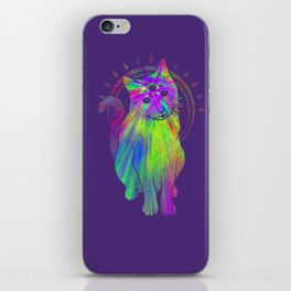 Psychedelic Psychic Cat iPhone Skin