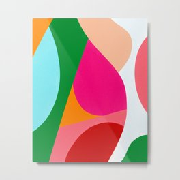Colorful Abstract Shapes Bold Metal Print