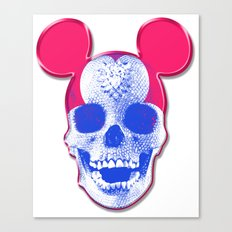 Mickey Mouse Skullface (aka Norman Bates' Dad) Canvas Print