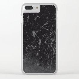 Gray Black Marble #1 #decor #art #society6 Clear iPhone Case
