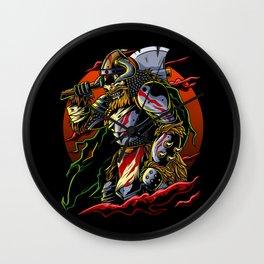 Samurai Viking   Warrior Ronin Berserk Armor Axe Wall Clock