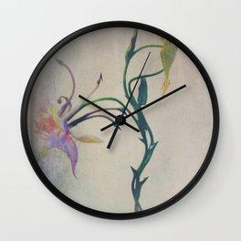 wild flower i am ... in sinister worlds v2 Wall Clock