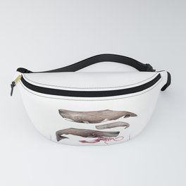 Sperm whale family Fanny Pack