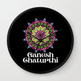 Ganesh Chaturthi Festival Wall Clock