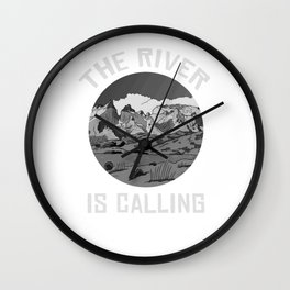 The River Is Calling Wall Clock