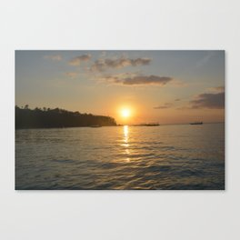 On boat at Senggigi Lombok Island Canvas Print