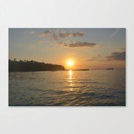 On boat at Senggigi Lombok Island Canvas Print