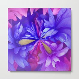 311 - Abstract Flower design Metal Print