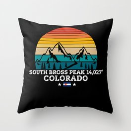 SOUTH BROSS PEAK Colorado Throw Pillow