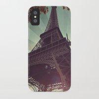eiffel tower iPhone & iPod Cases featuring Eiffel Tower by Rhianna Power