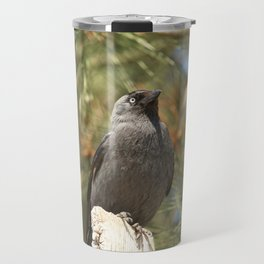 Black Crow Close Up Travel Mug