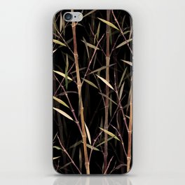 Dry Bamboo Forest at Night iPhone Skin