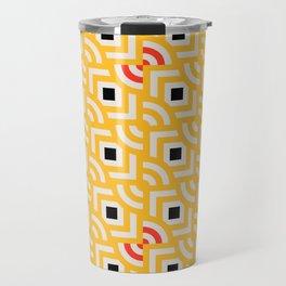 Round Pegs Square Pegs Yellow Travel Mug