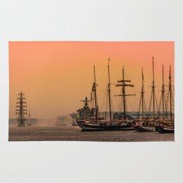 sail boston - sunrise Rug