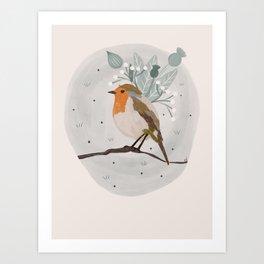 Sweet Robin Art Print