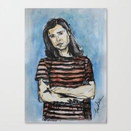 Sketch of The Neighbourhood's Zach Abels Canvas Print