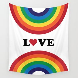 70's Love Rainbow Wall Tapestry