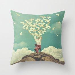 Pigeon Composer Throw Pillow