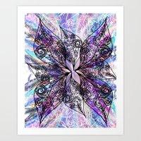 batik Art Prints featuring Batik by Crimsonblossom
