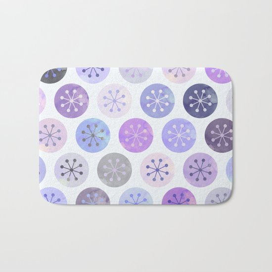Watercolor Lovely Pattern VI Bath Mat