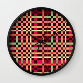 Little squares pattern! Wall Clock