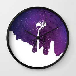 Fill Galaxy With Your Own Color Wall Clock