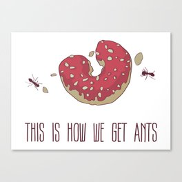 This is How We Get Ants Canvas Print