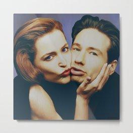 The Schmoopies - Gillian and David Metal Print