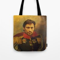 replaceface Tote Bags featuring Hugh Jackman - replaceface by replaceface