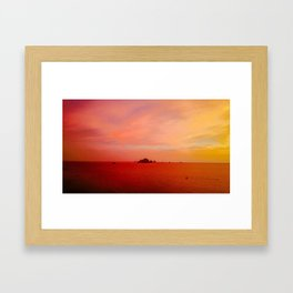 Drone Krabi Sunset, Thailand Framed Art Print