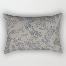 Grey green blue muted leaf pattern Rectangular Pillow