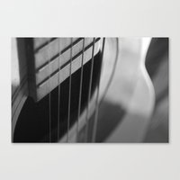 guitar Canvas Prints featuring Guitar by Mary Curtis