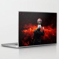 football Laptop & iPad Skins featuring Football by Cs025