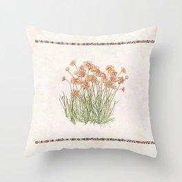 Flowering Scabiosa Throw Pillow