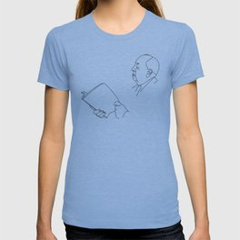 Alfred Hitchcock Minimal Line Drawing T-shirt