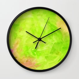 Through The Looking Glass Lime Green Wall Clock