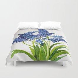 Watercolour Grape Hyacinth Duvet Cover