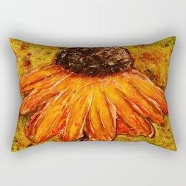 Textured Flower Rectangular Pillow