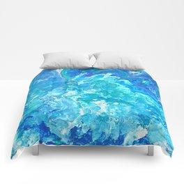 Aqua Ocean Blue Comforters
