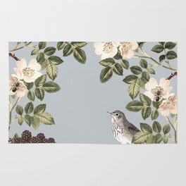 Birds and the Bees Gray Rug