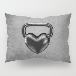 Kettlebell heart / 3D render of heavy heart shaped kettlebell Pillow Sham