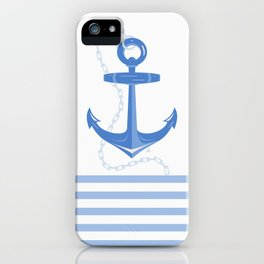 AFE Dark Blue Nautical Anchor iPhone Case