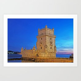 Belem Tower in Lisbon Art Print