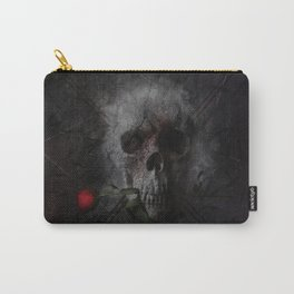Skull with Rose Carry-All Pouch