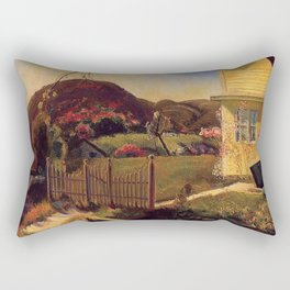 White Picket Fence - Mountain House by George Wesley Bellows Rectangular Pillow